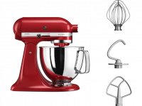 Acheter KITCHENAID 5KSM125EER Robot pâtissier Artisan - Rouge empire  au meilleur prix