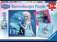 Comparateur de prix LA REINE DES NEIGES Puzzle 3x49 pcs Elsa, Anna et Olaf