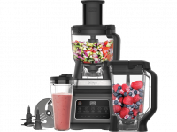 Comparateur de prix NinjaRobot culinaire 3-en-1 avecAuto-iQ[BN800EU] 1200â�¯W, bol 1,8â�¯l, Carafe 2,1â�¯l, Gobelet 0,7â�¯l, Noir/Argent