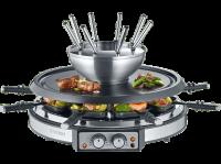 Acheter SEVERIN RG 2348 - Raclette/fondue/pière chaude - 1900 Watt - noir/inox brossé au meilleur prix