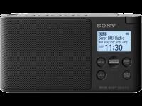 SONY - XDRS41 - Radio portable DAB/DAB+ - Préréglages directs - Réveil et mise en veille programmable - Noir