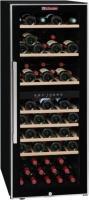 Acheter LA SOMMELIERE ECS80.2Z-Cave à vin de service porte vitrée-double zone-cadre noir et inox-75 bouteilles-7 clayettes bois-B  au meilleur prix