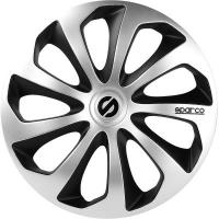 "Acheter SPC1573SVBK SPARCO SET 4 COPRICERCHI COPPE AUTO SICILIA SILVER/NERO 15"" au meilleur prix"
